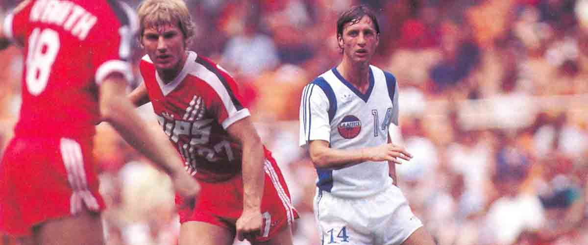 Johan Cruijff bij Aztecs Los Angeles