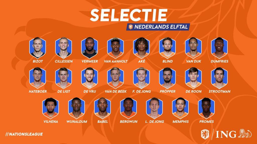 Selectie Nations League 2019 halve finale