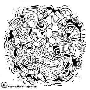 Kleurplaten Voetbal Logo Ajax.Kleurplaat Voetbal Printen Gratis Voetbaluitslagen Com