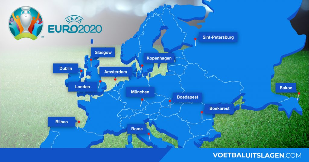 EK 2020 speelsteden