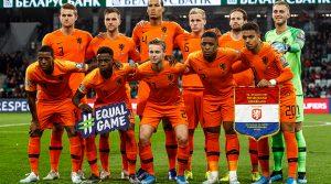 Nederlands elftal teamfoto