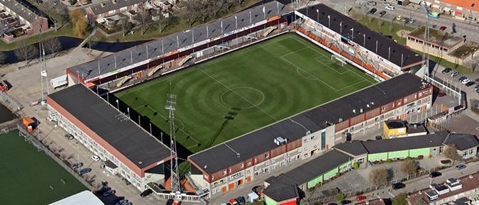 kras stadion bovenaf FC volendam