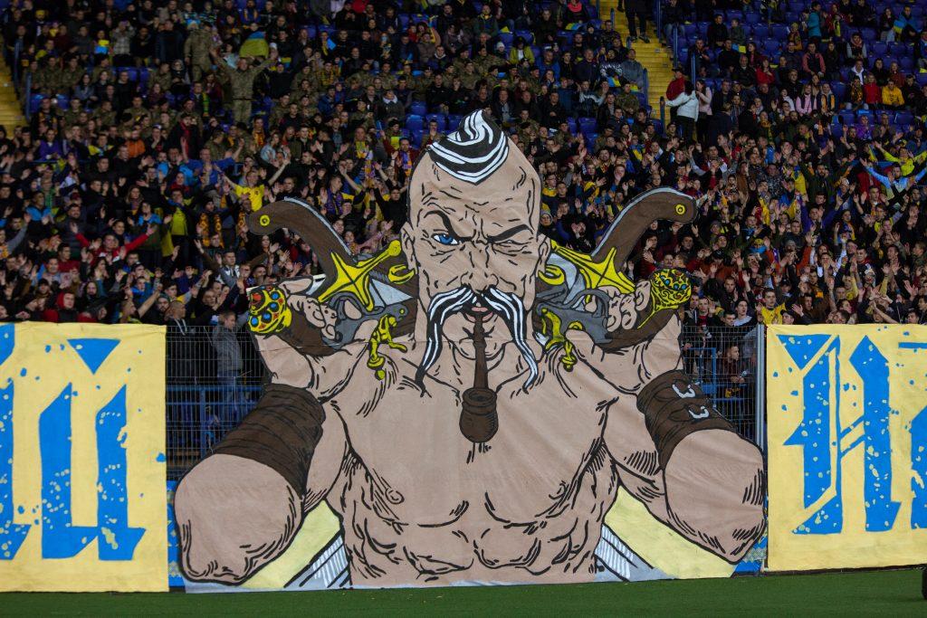 oekraine voetbal sfeeractie