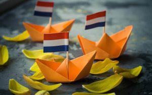 Oranje vlaggetje