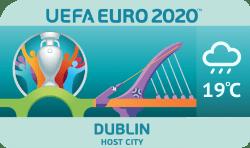 Speelstad EK 2020 Dublin weersverwachting