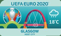Speelstad EK 2020 Glasgow weersverwachting