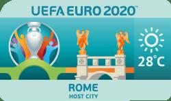 Speelstad EK 2020 Rome weersverwachting