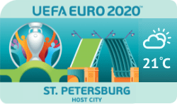 Speelstad EK 2020 Sint Petersburg weersverwachting