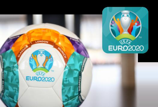 voetbal ek 2020 met logo toernooi