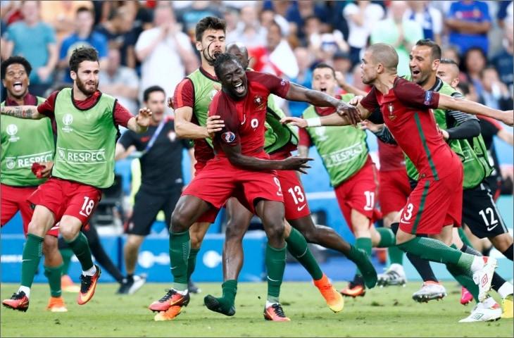 eder scoort in finale ek 2016 en viert feest met portugal teams