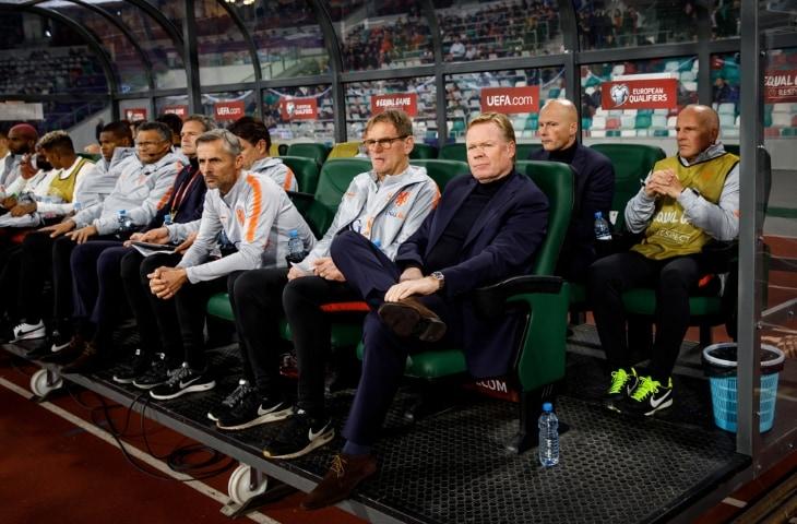 ronald koeman dugout staf nederlands elftal
