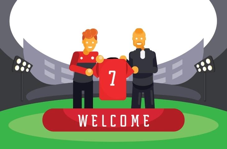 transfer speler presentatie animatie