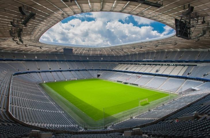 Allianz Arena tribunes in stadion