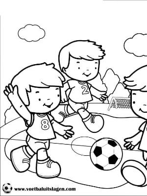Voetbal Kleurplaat jongens