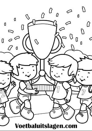 voetbal kleurplaat kinderen