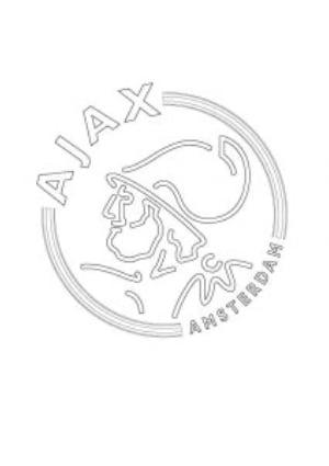 Kleurplaat Ajax logo