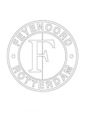 Kleurplaat Feyenoord logo