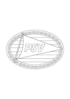 Kleurplaat PSV Logo