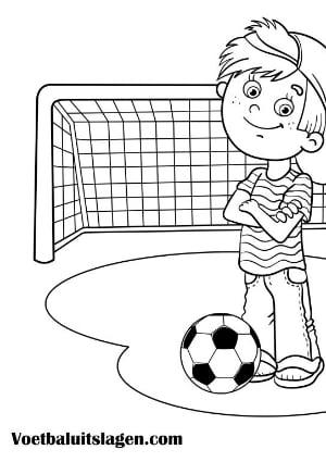 voetbal kleurplaat jongen