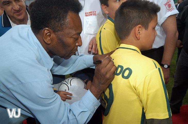 Pele handtekening brazilie